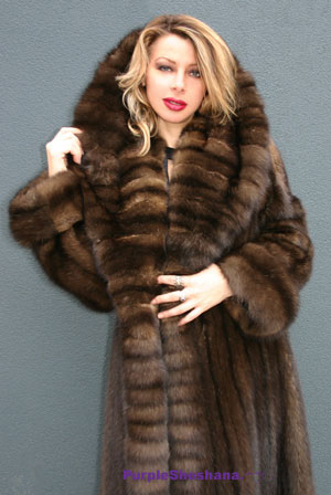 Sell Mink Coat Toronto Fursable 1 Hooded Sable Fur Coat